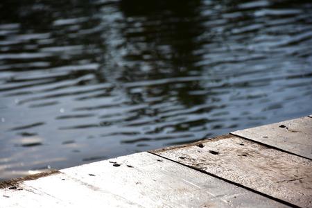Wooden floor to the sun. 版權商用圖片