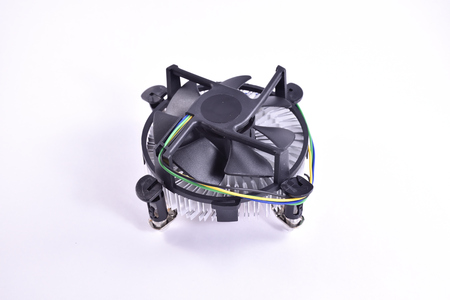 CPU fan for computers on white background.
