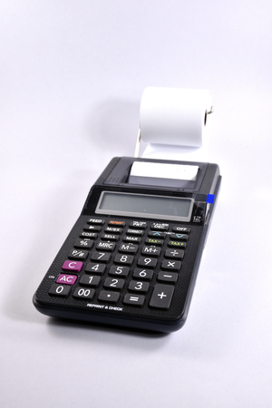 Print Calculator isolated on white background.