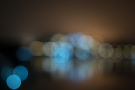 Night light taken with blur bokeh background.