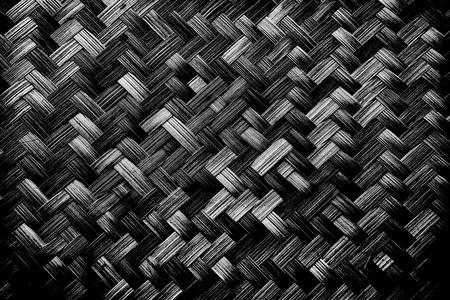 Basket pattern black background.