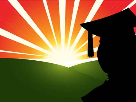 Graduate Sunrise Stock Vector - 4234289