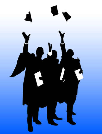 mortar board: Graduate Hat Throw Illustration