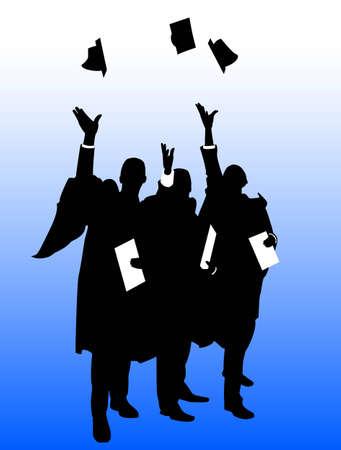 higher: Graduate Hat Throw Illustration