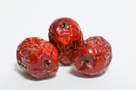 날짜, 대추, 흰색 배경에 고립 된 중국 빨간 날짜