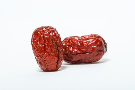 Date,jujube,Chinese red date isolated on white background Stock Photo