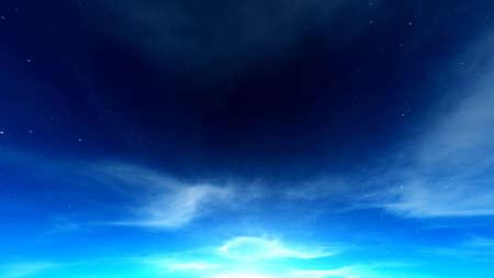 starlit sky: Starlit sky Stock Photo