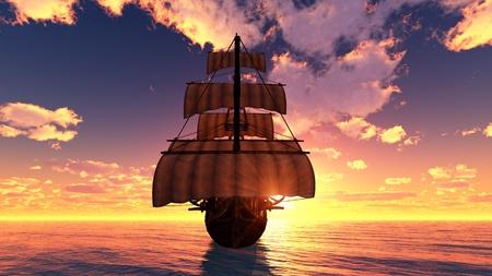 schepen: zeilboot Stockfoto
