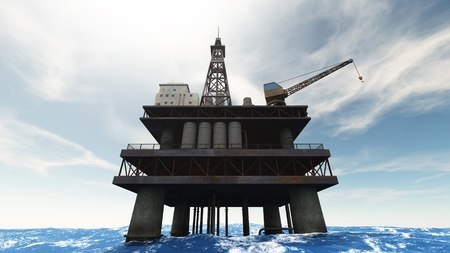 oil platforms photo