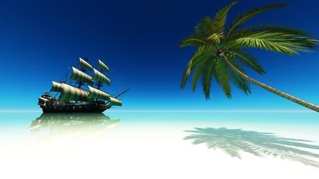 barco pirata: bote de vela