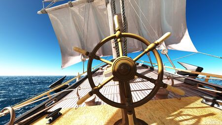ruder: Segelboot