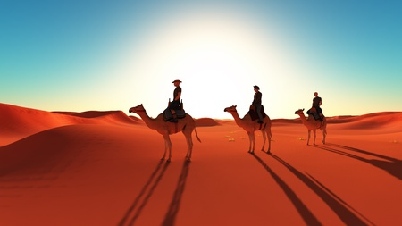 plural number: The men who ride a camel