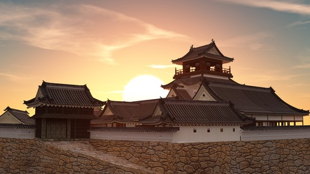 Japanese castle 写真素材