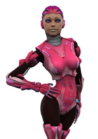 robot woman: robot  Stock Photo