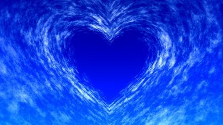 심장 모양의 구름