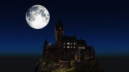 moon and castle