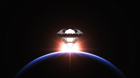 planet and diamond Stock Photo - 14065016
