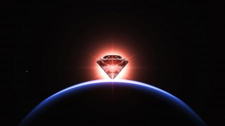 planet and diamond Stock Photo - 14065190