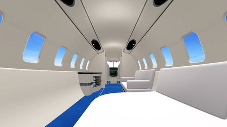 inside plane Stock Photo - 14121039