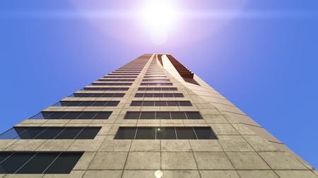 3D CG rendering of building Reklamní fotografie