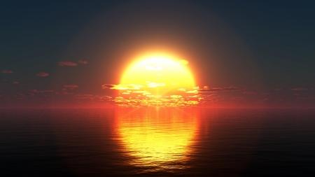 setting sun: sun rise