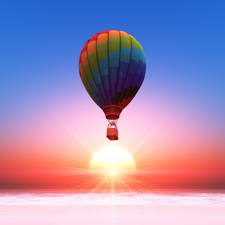 Hot-air balloon Banque d'images