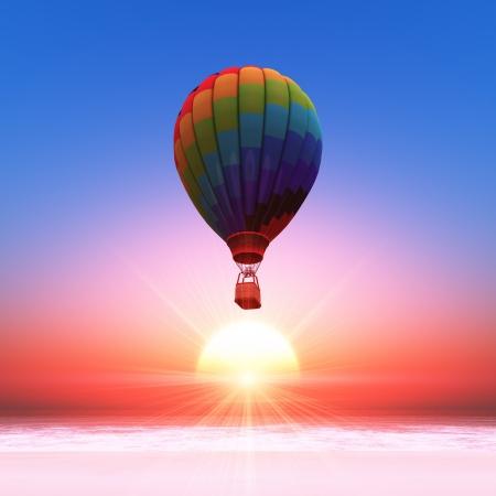 Hot-air balloon Standard-Bild