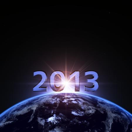2013 et la terre Banque d'images