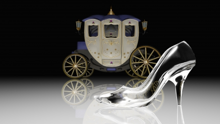 cinderella shoes: glass shoes Stock Photo