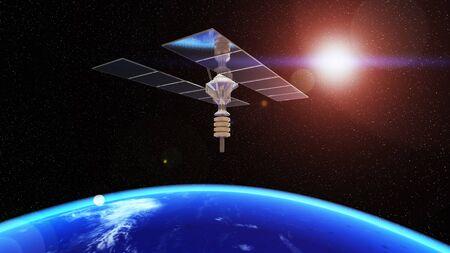 man-made satellite 写真素材