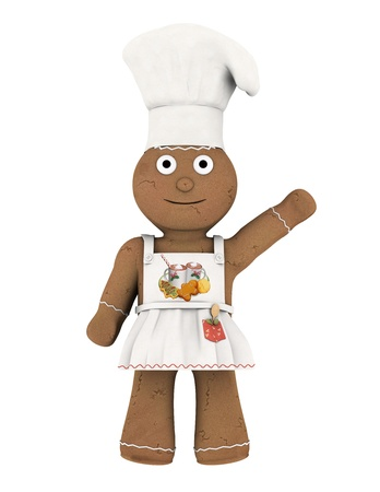 gingernuts: chef doll