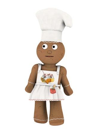 gingernuts: chef doll