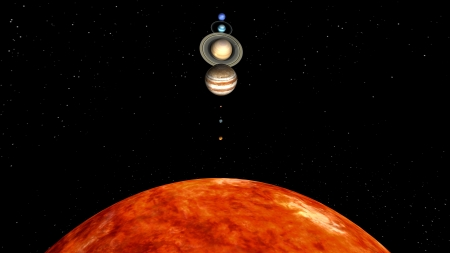 starlit sky: planets Stock Photo
