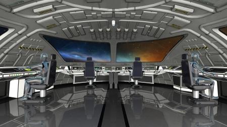 robot in the control center Zdjęcie Seryjne - 20215980