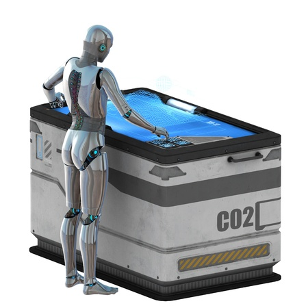robot in the control center