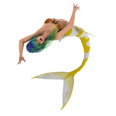 half fish: mermaid Stock Photo