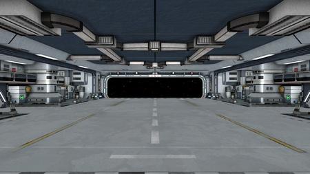 宇宙船ゲート 写真素材