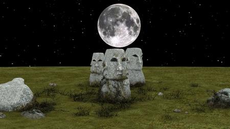religious service: Moai