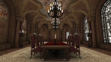 formality: dining room Stock Photo