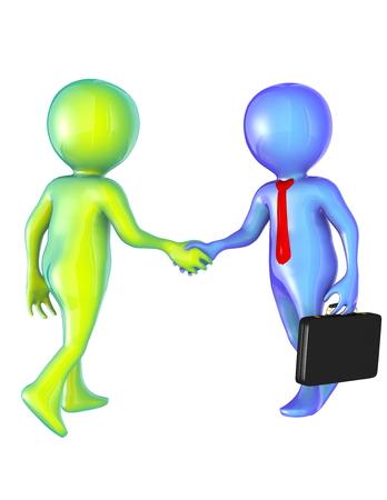 握手する人たち