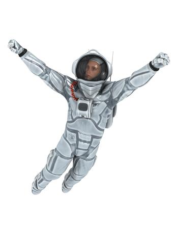 astronaut  isolated on white Stock Photo - 25863066