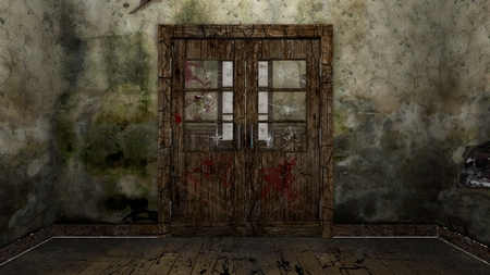 ruines chambre Banque d'images