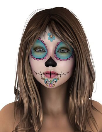 woman who has face painting