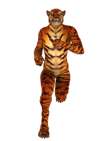 虎の男 写真素材