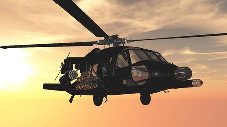 ヘリコプター 写真素材