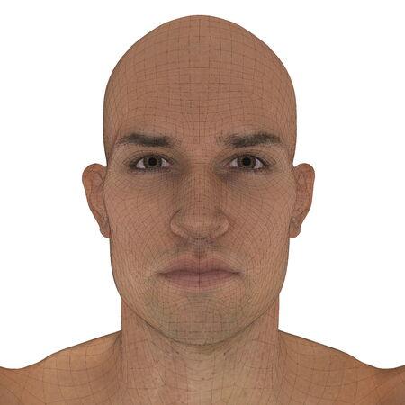 man face: man  face