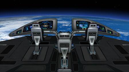 panel de control: nave espacial