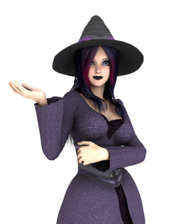 3d witch: 3d witch on white