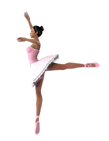 白のバレエ ダンサー
