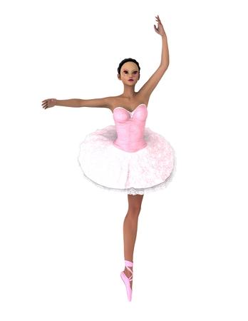 ballet dancer on white